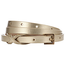 Buy John Lewis Twist Skinny Keeper Belt, Gold Online at johnlewis.com