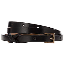 Buy John Lewis Twist Skinny Keeper Belt, Black Online at johnlewis.com