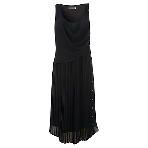 Buy Mint Velvet Pleat and Stud Dress, Black Online at johnlewis.com