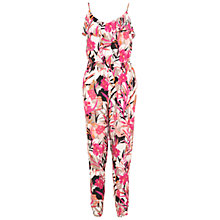 Buy Miss Selfridge Palm Frill Jumpsuit, Multi Online at johnlewis.com