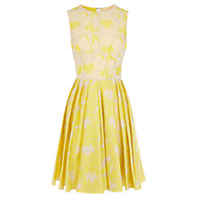 Buy Coast Amaline Jacquard Dress, Lemon Online at johnlewis.com