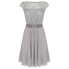 Buy Coast Lori Lee Lace Short Dress, Silver Online at johnlewis.com