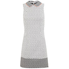Buy Miss Selfridge Tipped Collar Shift Dress, White/Black Online at johnlewis.com