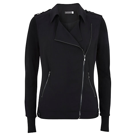 Buy Mint Velvet Soft Biker Jacket, Black Online at johnlewis.com