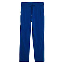 Buy Violeta by Mango Cupro Trim Trousers, Bright Blue Online at johnlewis.com