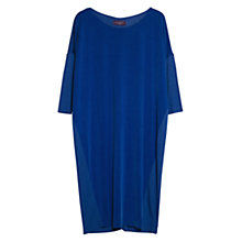 Buy Violeta by Mango Cupro Front Dress, Bright Blue Online at johnlewis.com