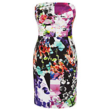 Buy Coast Amy Print Bandeau Dress, Multi Online at johnlewis.com