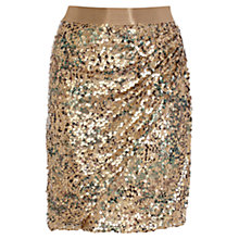 Buy Coast Zuki Sequin Skirt, Bronze Online at johnlewis.com