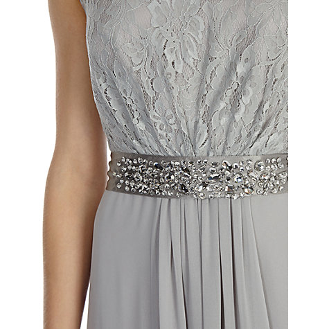 Buy Coast Lori Lee Lace Maxi Dress, Silver Online at johnlewis.com
