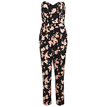 Buy Miss Selfridge Printed Bandeau Jumpsuit, Multi Online at johnlewis.com