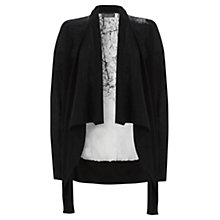 Buy Mint Velvet Lyla Print Cardigan, Black Online at johnlewis.com