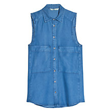 Buy Mango Denim Shirt, Medium Blue Online at johnlewis.com