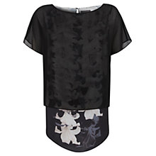 Buy Mint Velvet Lily Print Layered T-Shirt, Multi Online at johnlewis.com