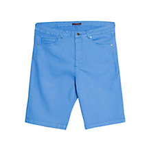 Buy Violeta by Mango Cotton Shorts, Light Pastel Blue Online at johnlewis.com