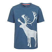 Buy John Lewis Vintage Reindeer Organic Cotton T-Shirt Online at johnlewis.com