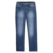 Buy Violeta by Mango Straight-Fit Ely Jeans, Medium Blue Online at johnlewis.com