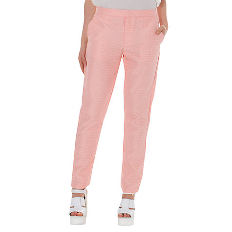 Buy True Decadence Tapered Trousers, Pink Diamond Online at johnlewis.com