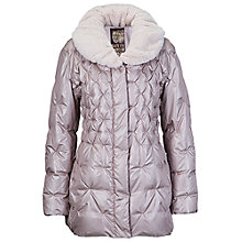 Buy Betty Barclay Diamond Pleated Fur Coat, Silver/Beige Online at johnlewis.com