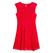 Buy Mango Flared Dress, Bright Red Online at johnlewis.com