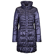 Buy Betty Barclay Padded Ruched Coat, Peacoat Blue Online at johnlewis.com