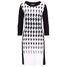Buy Betty Barclay Digital Dogtooth Dress, Cream/Black Online at johnlewis.com