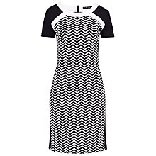 Buy Betty Barclay Zigzag Shift Dress, Black/Cream Online at johnlewis.com