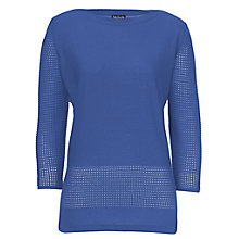 Buy Betty Barclay Cotton Blend Jumper, Moonlight Blue Online at johnlewis.com