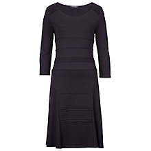 Buy Betty Barclay Panelled Ribbed Dress, Black Online at johnlewis.com