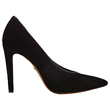 Buy Whistles Izzy V Cut Point Court Shoes, Black Online at johnlewis.com
