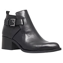 Buy Carvela Sasha Leather Ankle Boots, Black Online at johnlewis.com