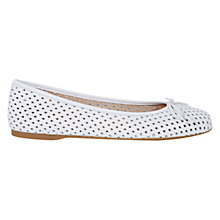 Buy Hobbs Dover Ballerina Pumps, White Online at johnlewis.com