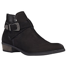 Buy Carvela Selena Nubuck Leather Ankle Boots, Black Online at johnlewis.com