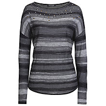 Buy Betty Barclay Fine Knit Striped Jumper, Black/Silver Online at johnlewis.com