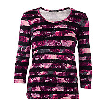 Buy Betty Barclay Rose Stripe Top, Dark Pink/Black Online at johnlewis.com