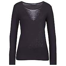 Buy Betty Barclay Diamante Panther Jumper, Black Online at johnlewis.com