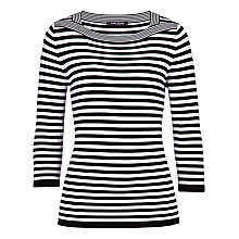 Buy Betty Barclay Striped Fine Knit Jumper, Black/Cream Online at johnlewis.com