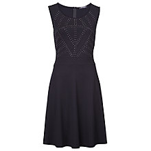 Buy Betty Barclay Sleeveless Diamante Panel Dress, Black Online at johnlewis.com