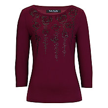 Buy Betty Barclay Sequin Rose Print Top Online at johnlewis.com