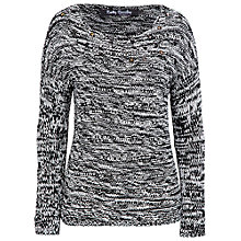 Buy Betty Barclay Chunky Knit Jumper, Black/Cream Online at johnlewis.com