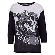 Buy Betty Barclay Jacquard Tiger Knit Jumper, Black/Cream Online at johnlewis.com