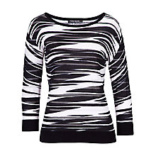 Buy Betty Barclay Sheer Stripe Jumper, Black/Cream Online at johnlewis.com