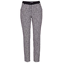 Buy Betty Barclay Printed Tweed Trousers, Black/Cream Online at johnlewis.com