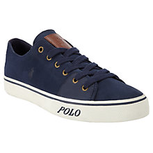 Buy Polo Ralph Lauren Cantor Low Suede Trainers Online at johnlewis.com