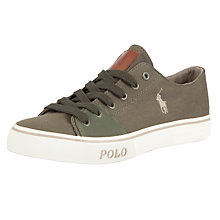Buy Polo Ralph Lauren Cantor Canvas Trainers, Service Green Online at johnlewis.com