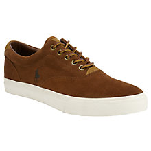 Buy Polo Ralph Lauren Vaughn Suede Sports Shoes, Snuff Online at johnlewis.com