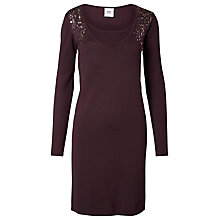Buy Mamalicious Carrot Nell Knit Maternity Dress, Wine Online at johnlewis.com