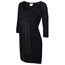 Buy Mamalicious Kira Jersey Tunic Maternity Dress, Black Online at johnlewis.com