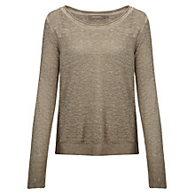 Buy Sandwich Linen-blend Jumper, Grey Online at johnlewis.com