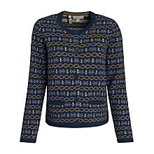 Buy Seasalt Loft Cardigan, Rope Jacquard Squid Online at johnlewis.com