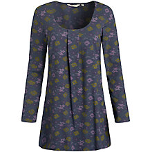 Buy Seasalt Church Tower Tunic Dress, Flower Bed Huckleberry Online at johnlewis.com